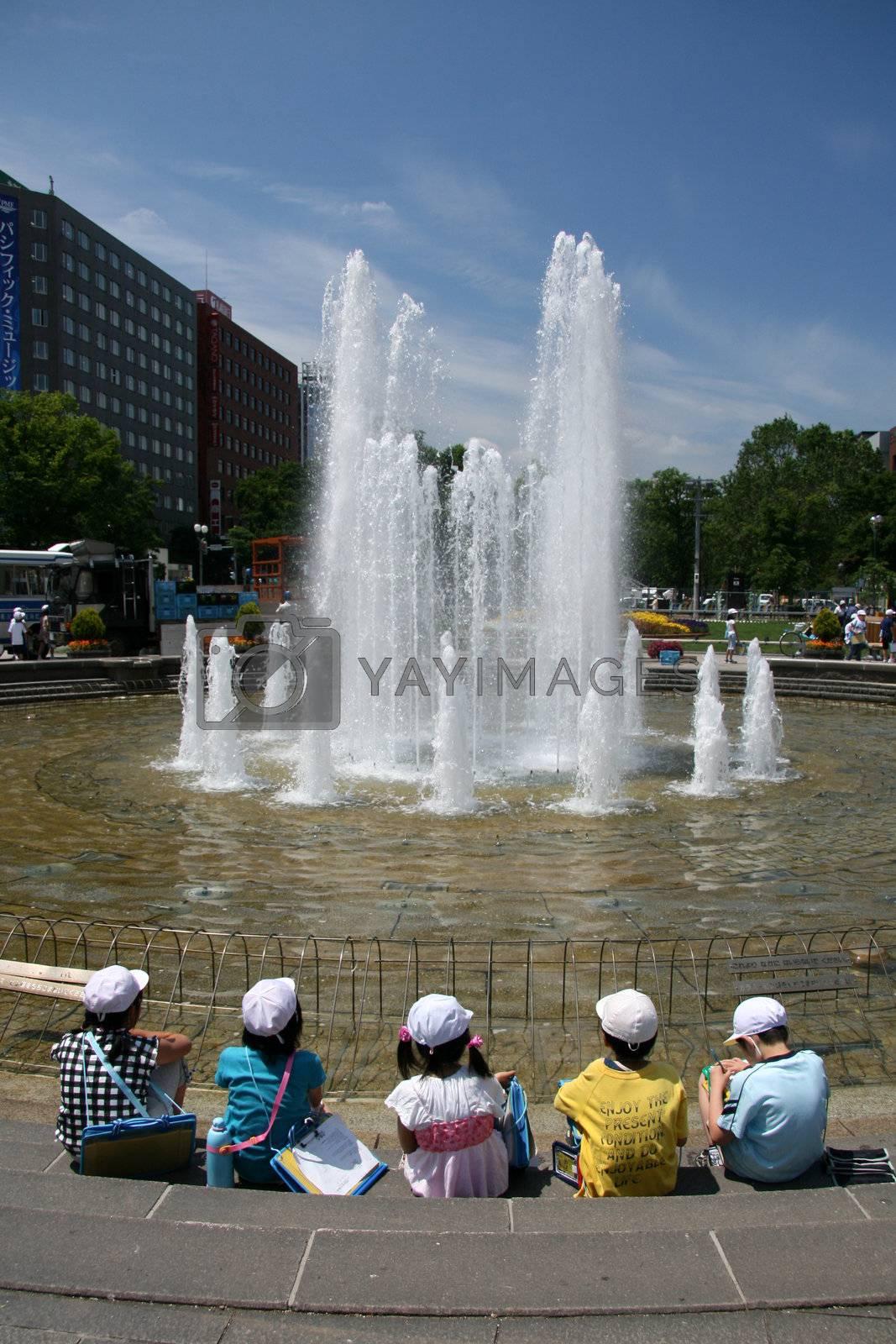Odori Park, Sapporo City, Japan