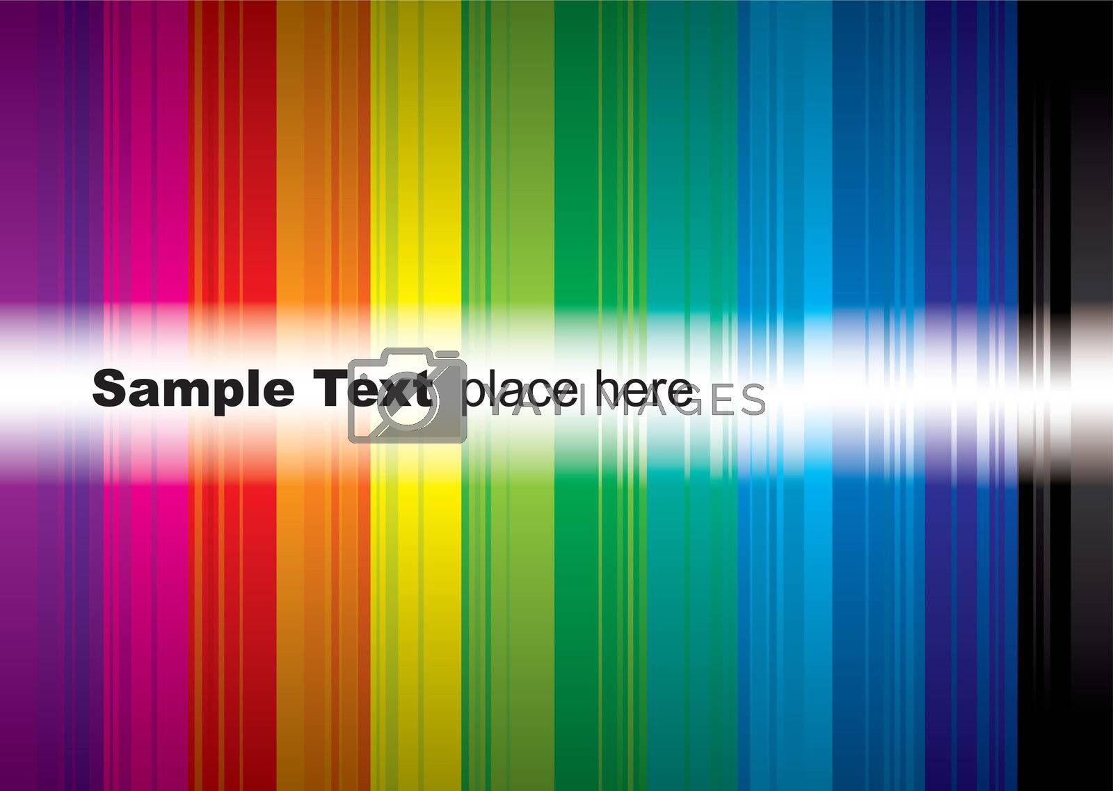 brightly coloured rainbow background with room to add your own text