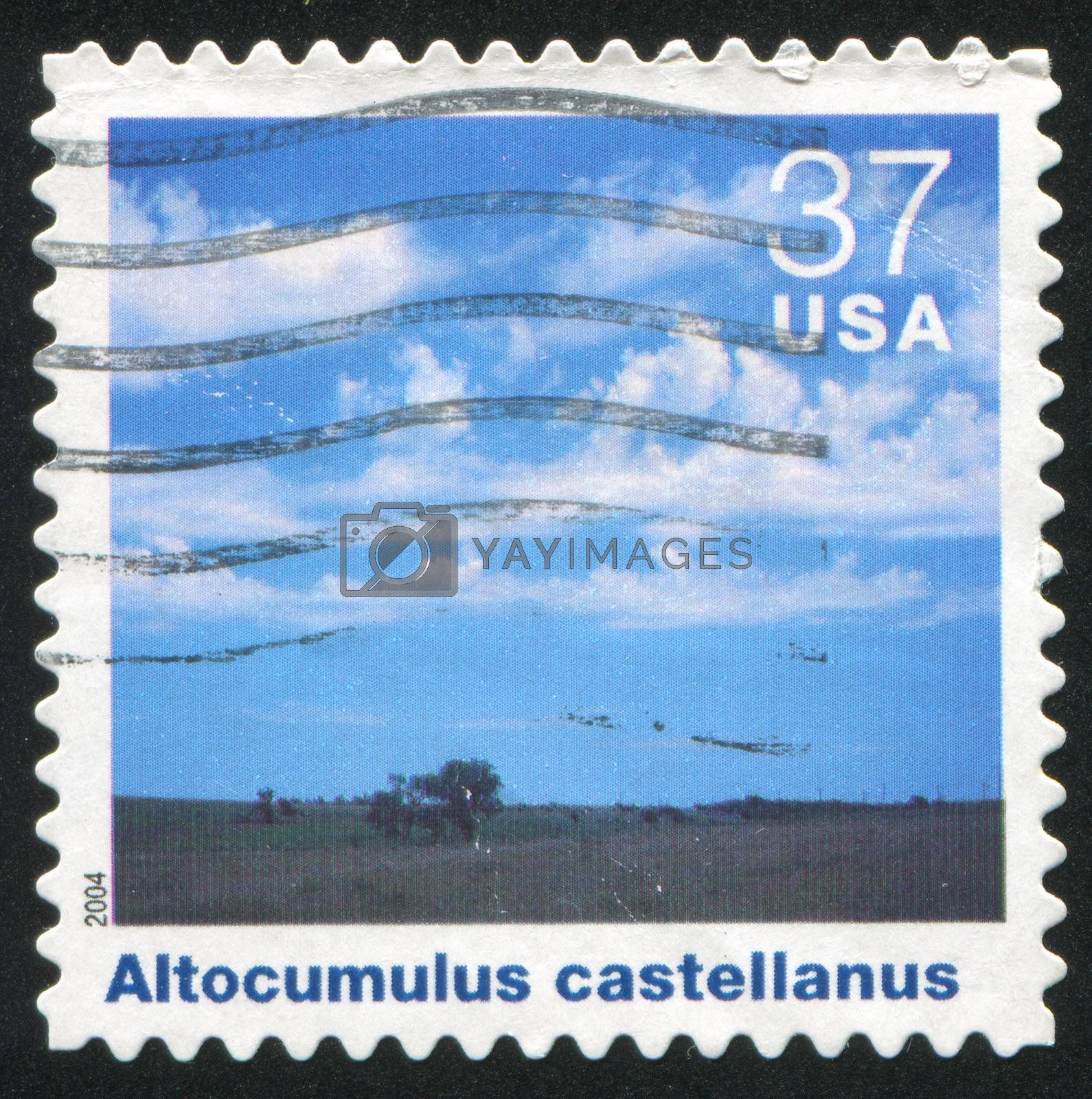 UNITED STATES - CIRCA 2004: stamp printed by United states, shows clouds, circa 2004