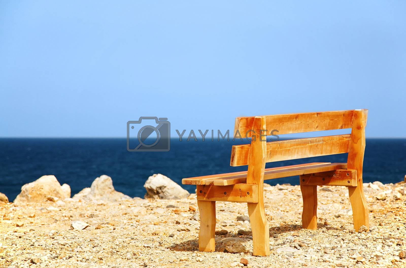 A bench on a coast