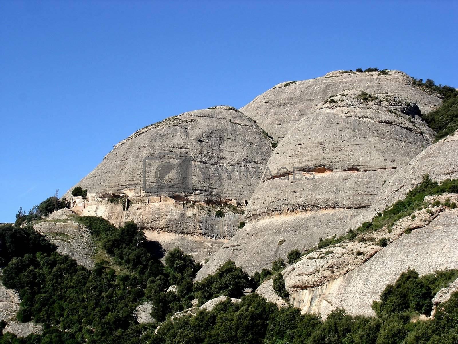 View of Sant Joan mountain at Montserrat abbey