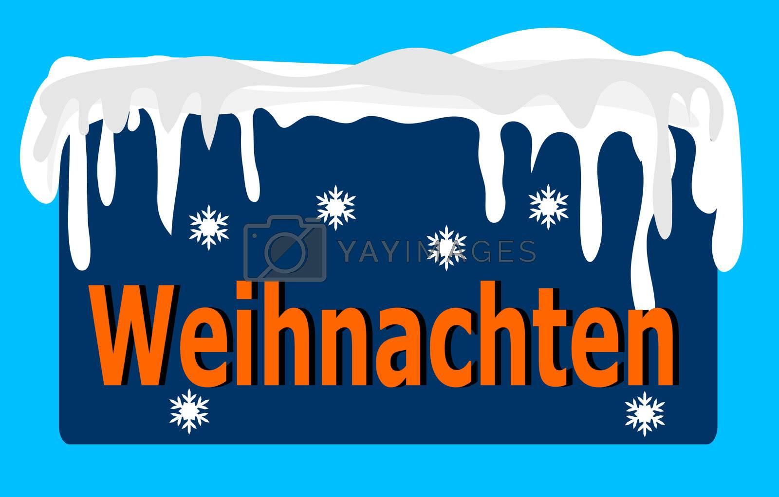 Blue German Christmas Logo