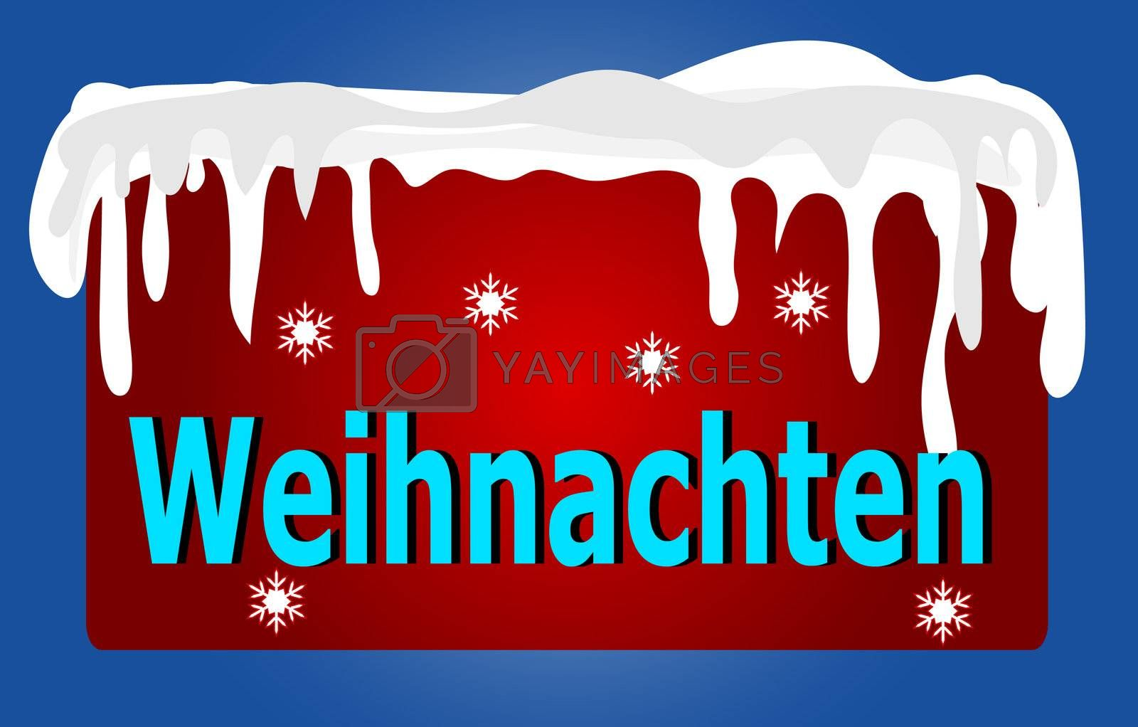 Red German Christmas Logo  by peromarketing