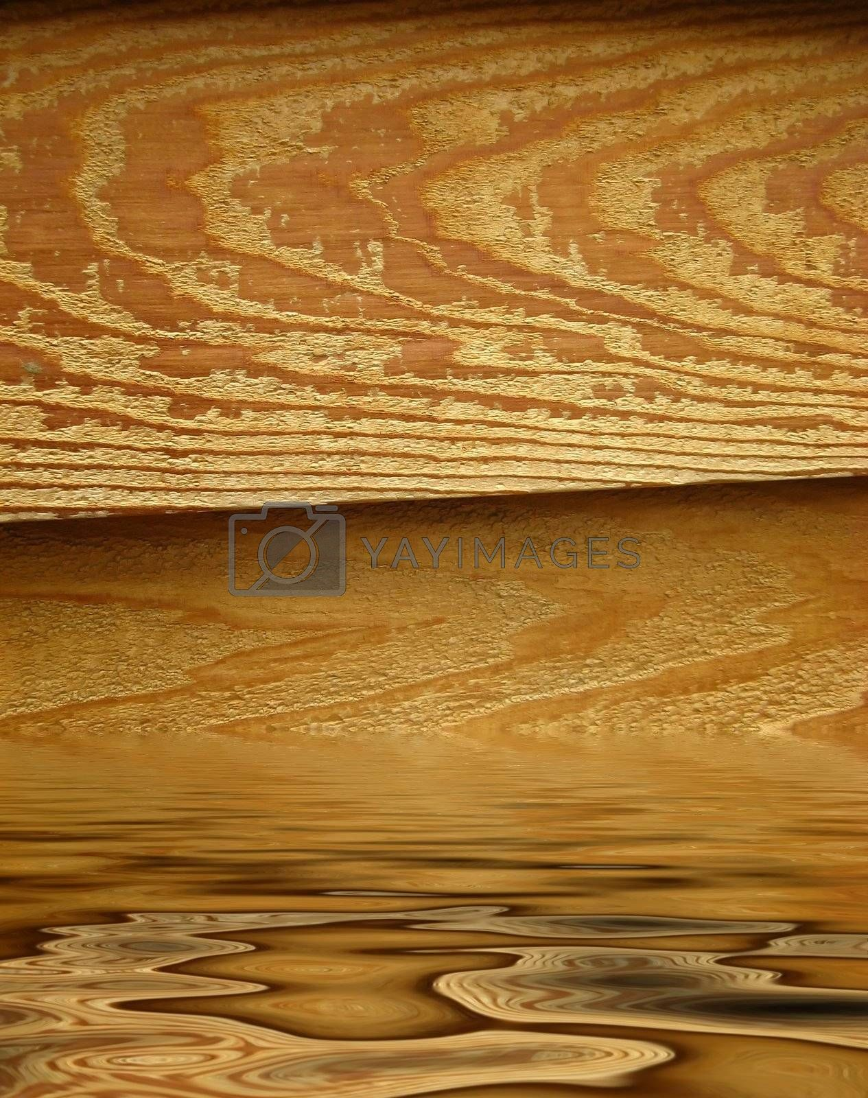 Wood with ripples
