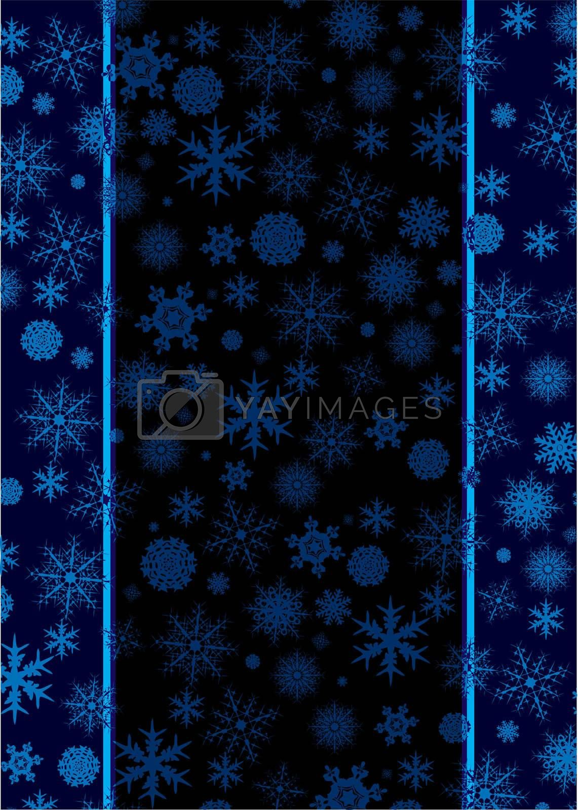 Abstract christmas background with dark colours and room to add text