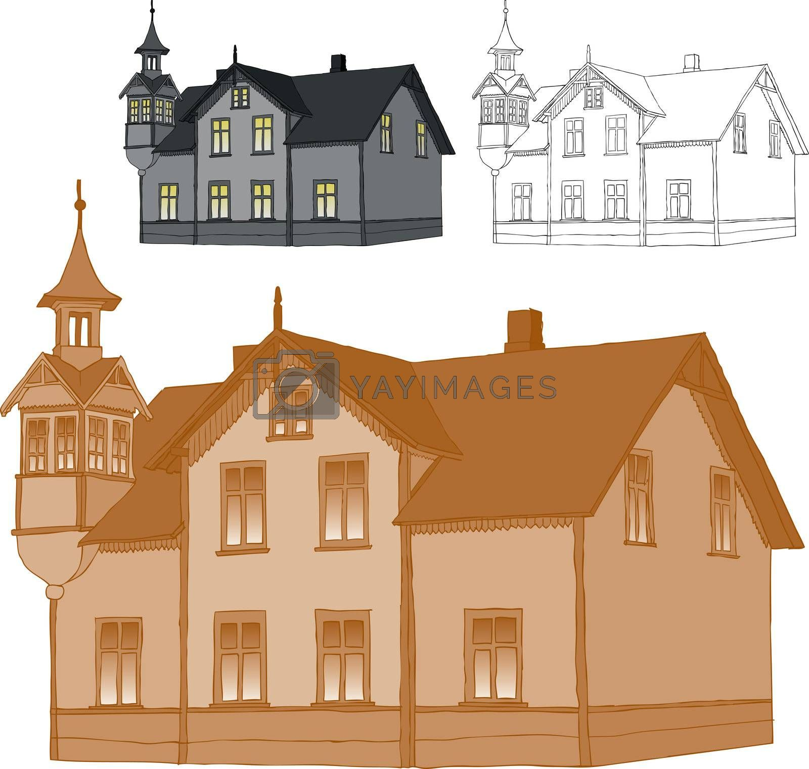 Royalty free image of Old family house by ints