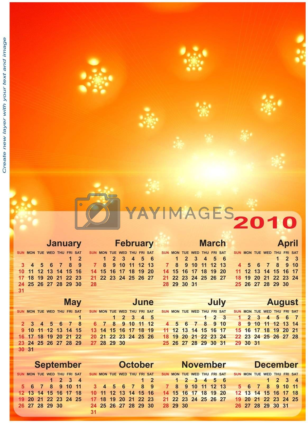 Royalty free image of Abstract design template for 2010 calendar. by boroda