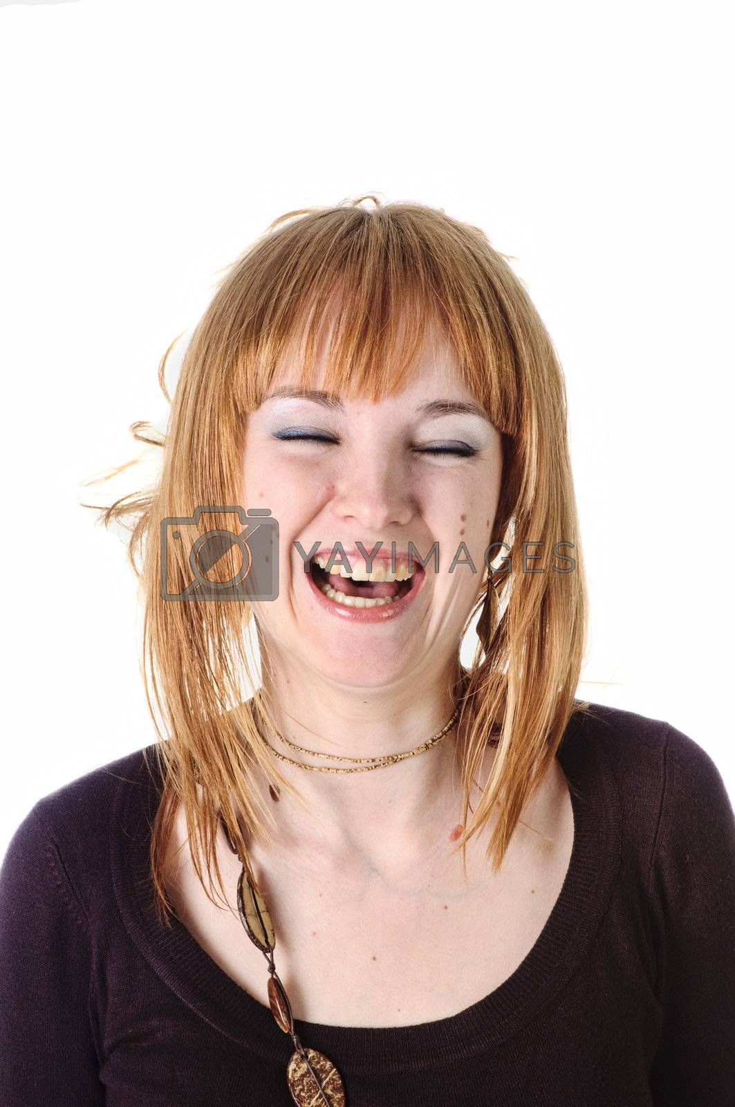 Royalty free image of Laughing girl by shivanetua