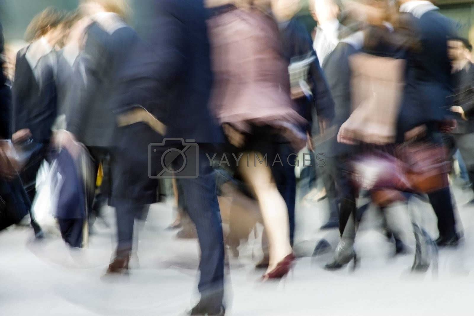 Royalty free image of Busy people blur by gabrel