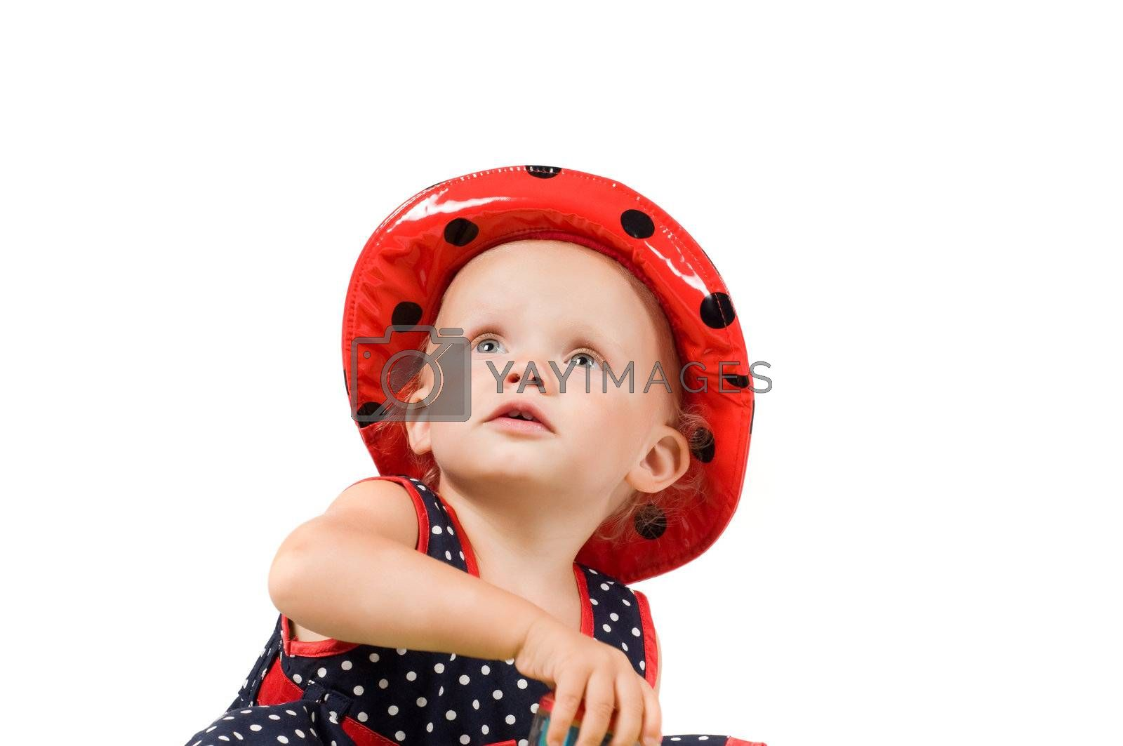Royalty free image of Little girl in studio by anytka
