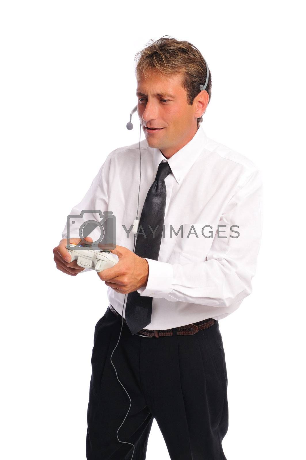 Royalty free image of business gamer by PDImages