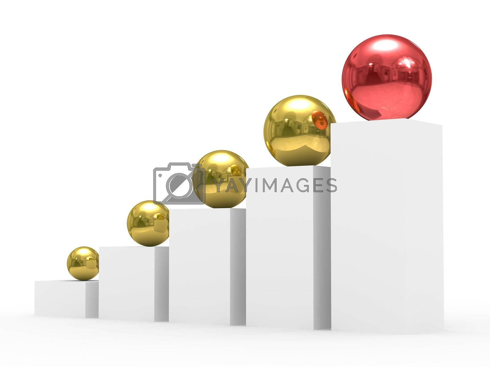 Royalty free image of Conceptual image of teamwork. isolated 3D image by ISerg