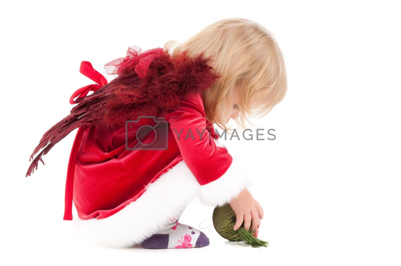 Royalty free image of Little christmas baby-girl  by anytka