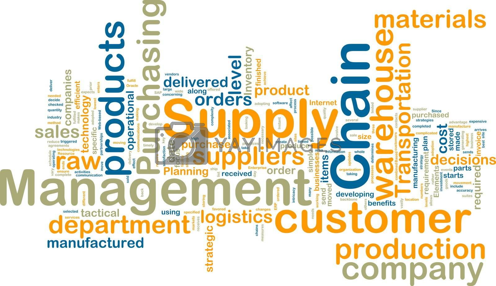Royalty free image of Supply chain management wordcloud by kgtoh