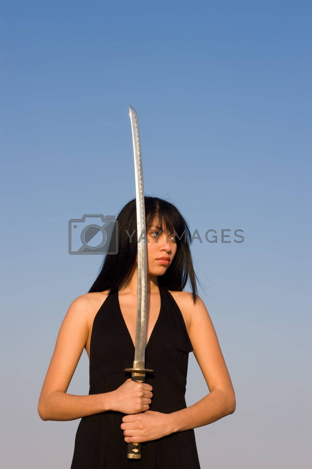 Royalty free image of Sword Lady by nightowlza
