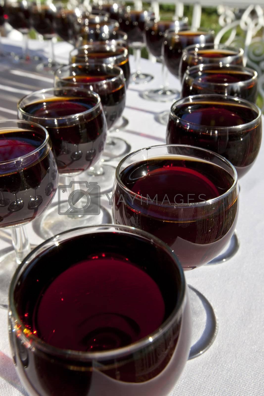 Royalty free image of Wine Glasses by nightowlza