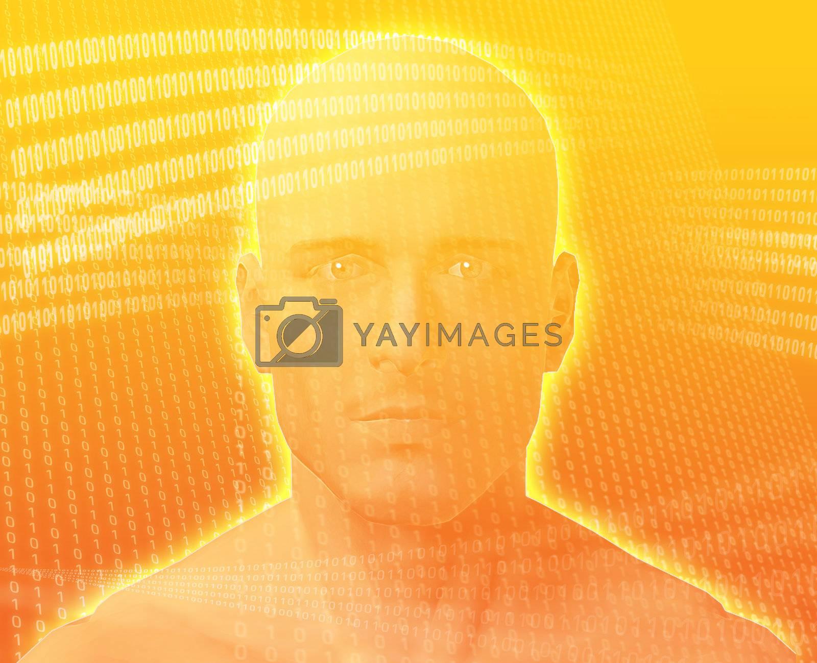 Royalty free image of Digital Man by kgtoh