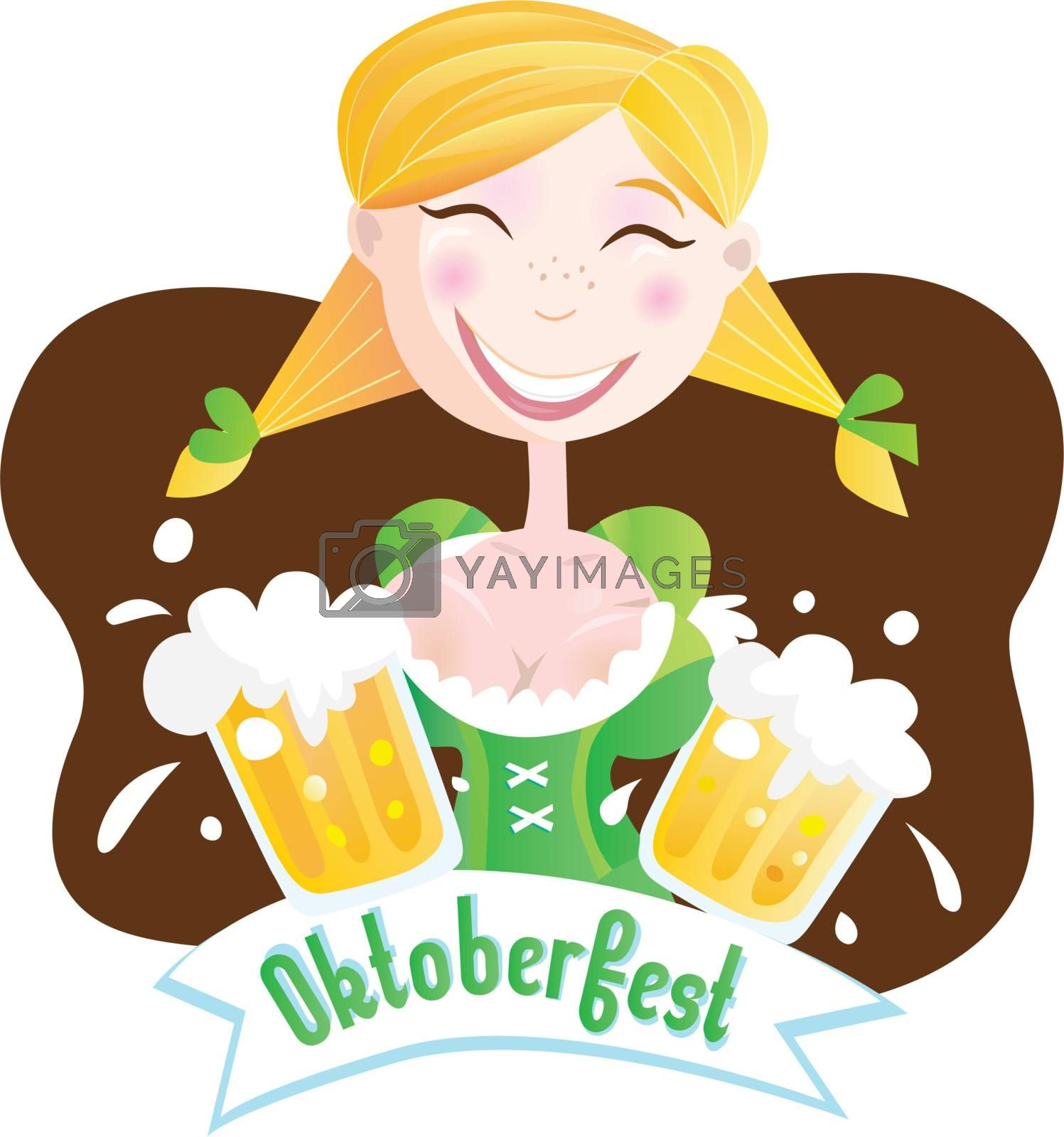 Royalty free image of Octoberfest (Bavarian girl) by Lordalea