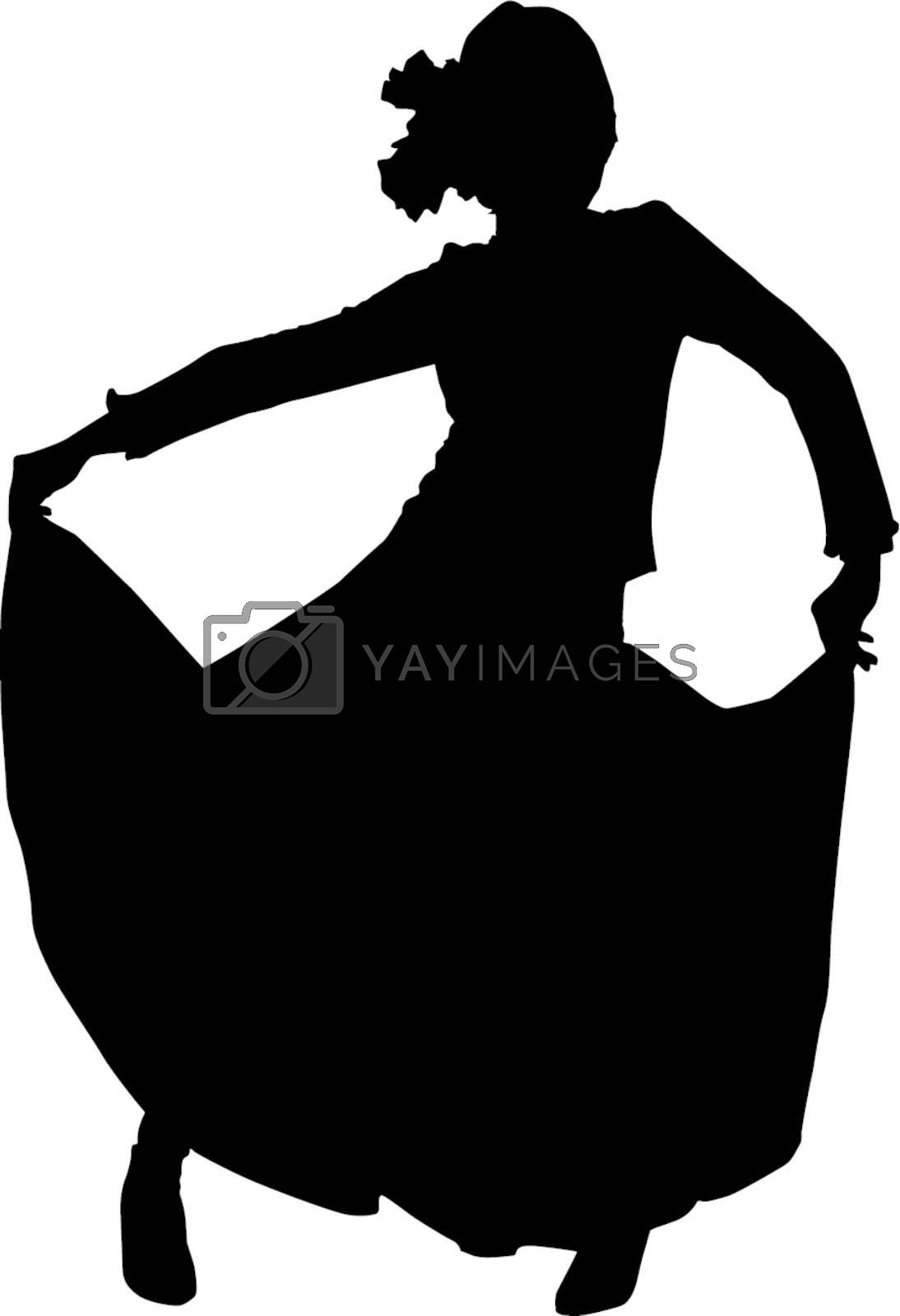 Royalty free image of Silhouette dancer woman by sattva