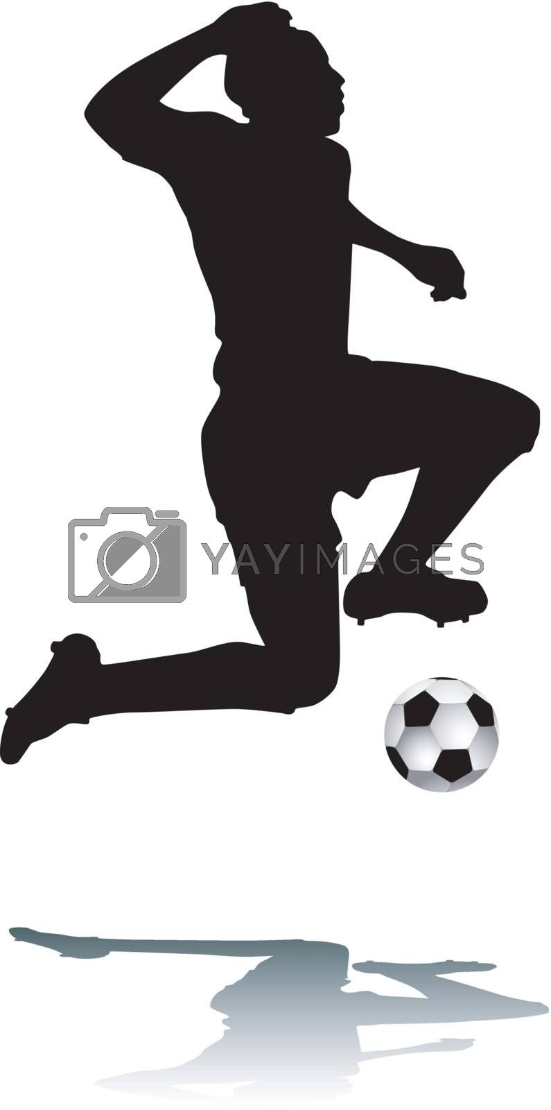 Royalty free image of Silhouette footballer by sattva