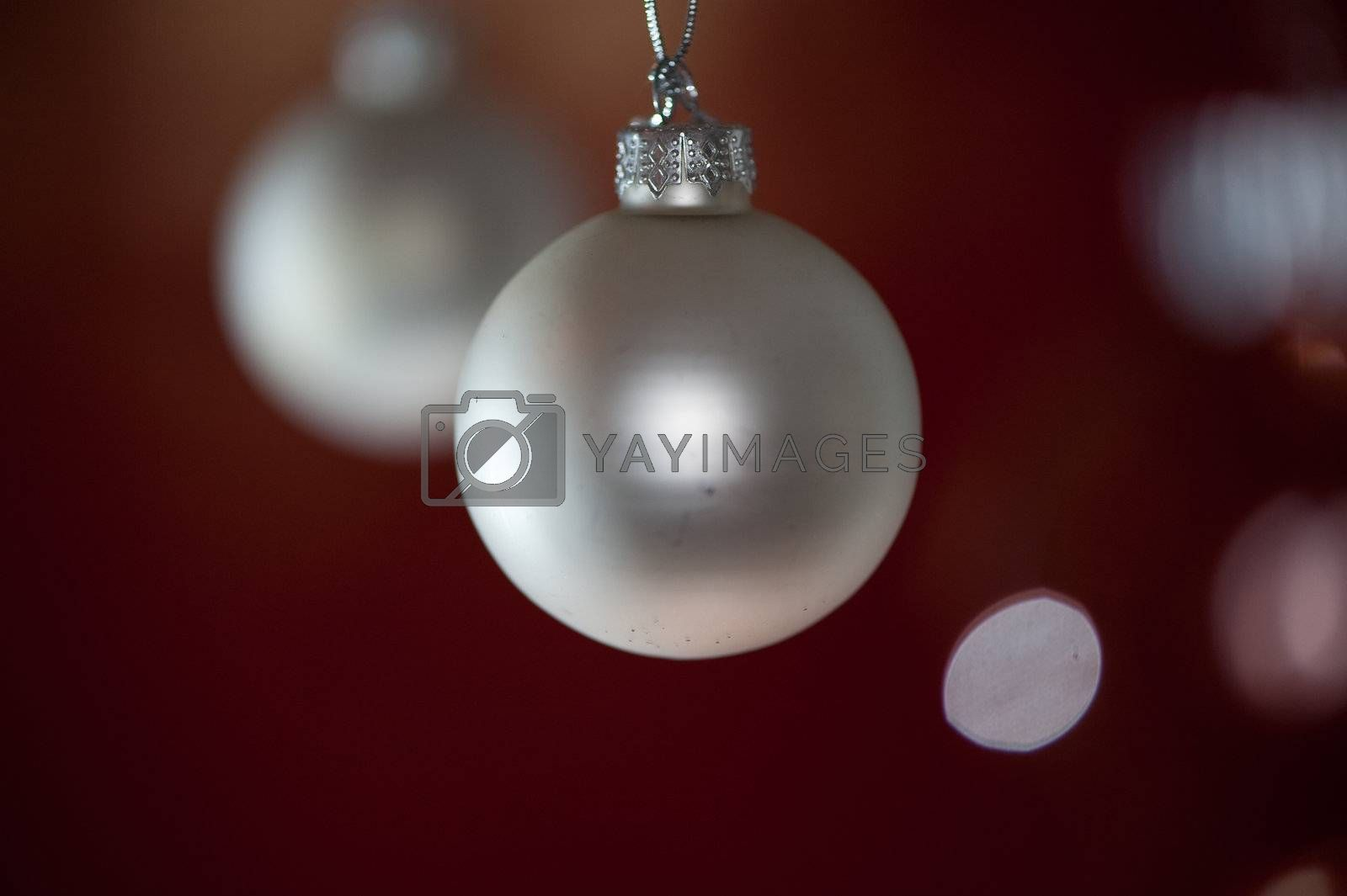 Royalty free image of Silver christmas balls by linus