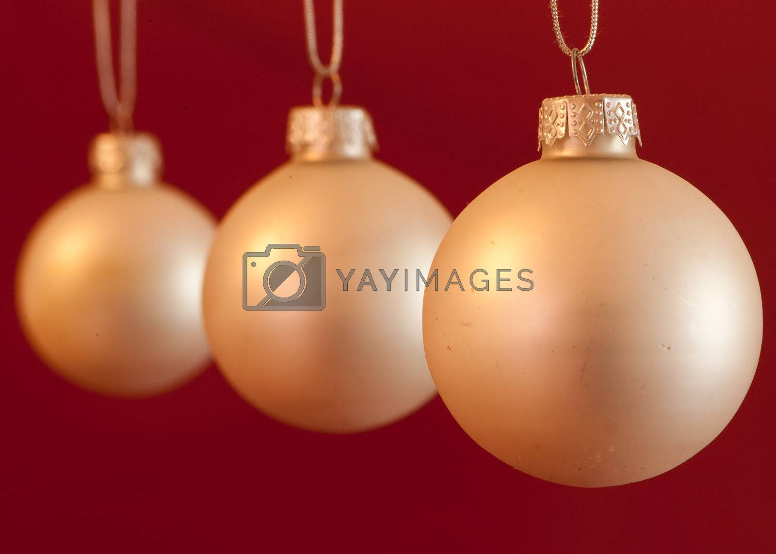 Royalty free image of Pataina-silver christmas balls by linus