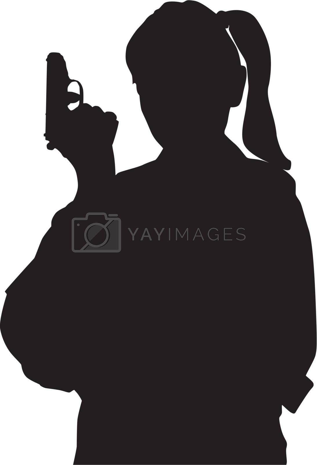 Royalty free image of Woman with gun by sattva