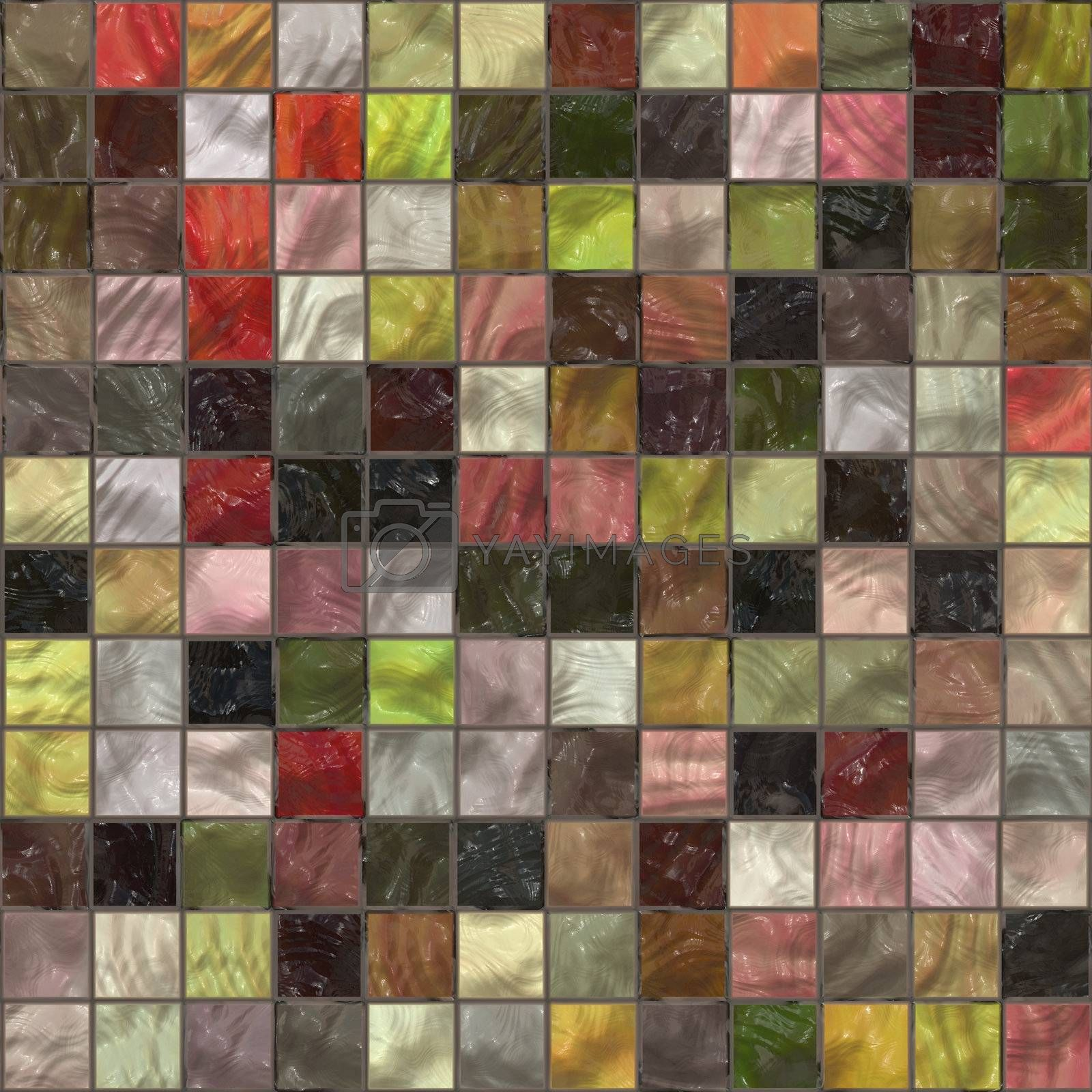 Royalty free image of Colorful tiles pattern by kgtoh