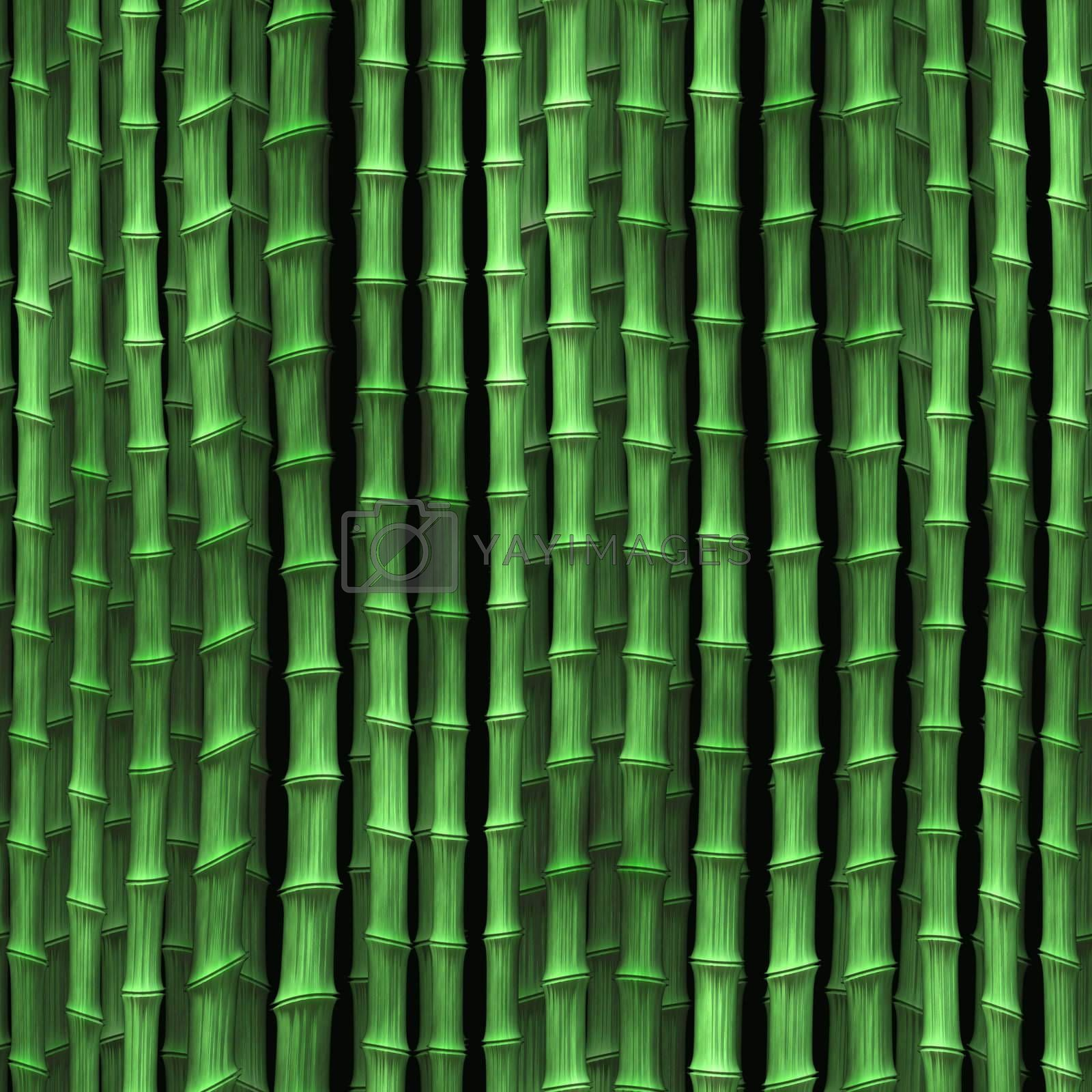 Royalty free image of Bamboo plants wallpaper by kgtoh