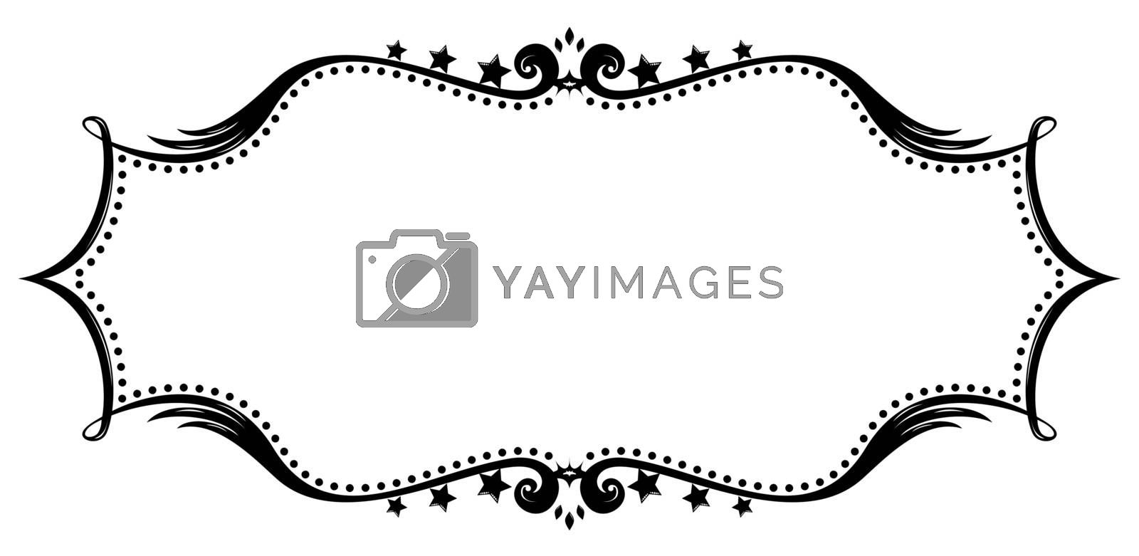 Royalty free image of Retro frame silhouette by oxygen64
