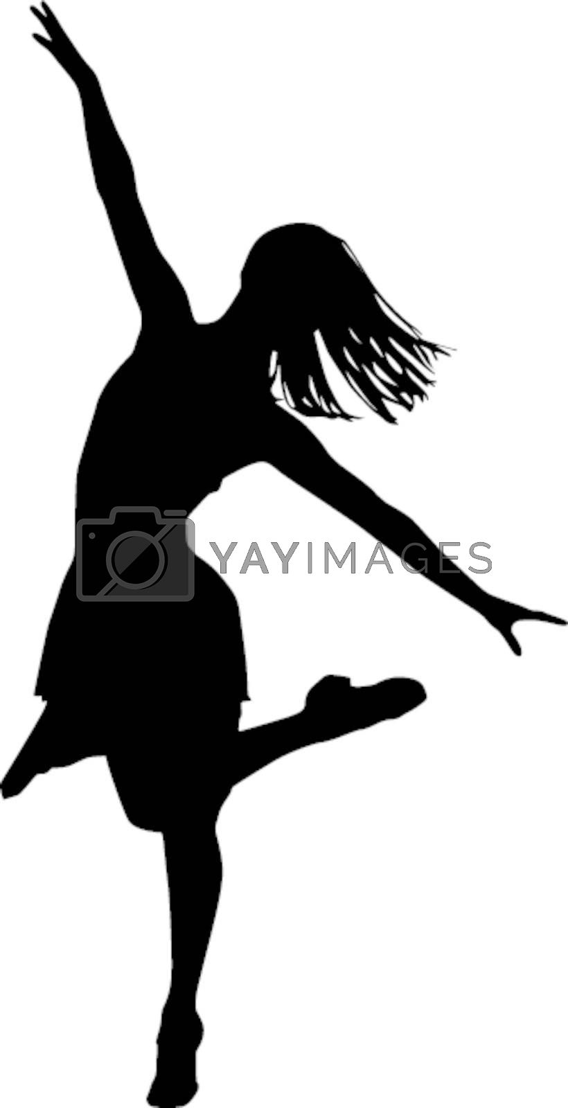 Royalty free image of Dancer silhouette by sattva