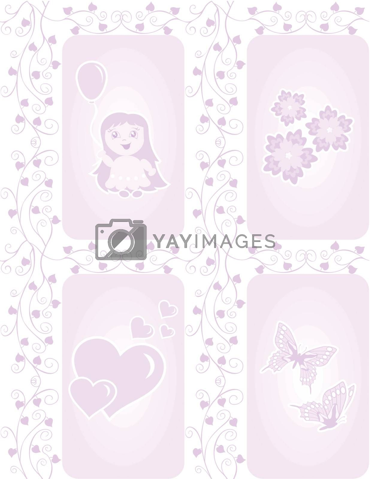 Royalty free image of Texture for girls by oxygen64