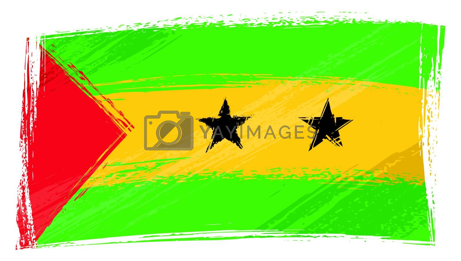 Royalty free image of Grunge Sao Tome and Principe flag by oxygen64