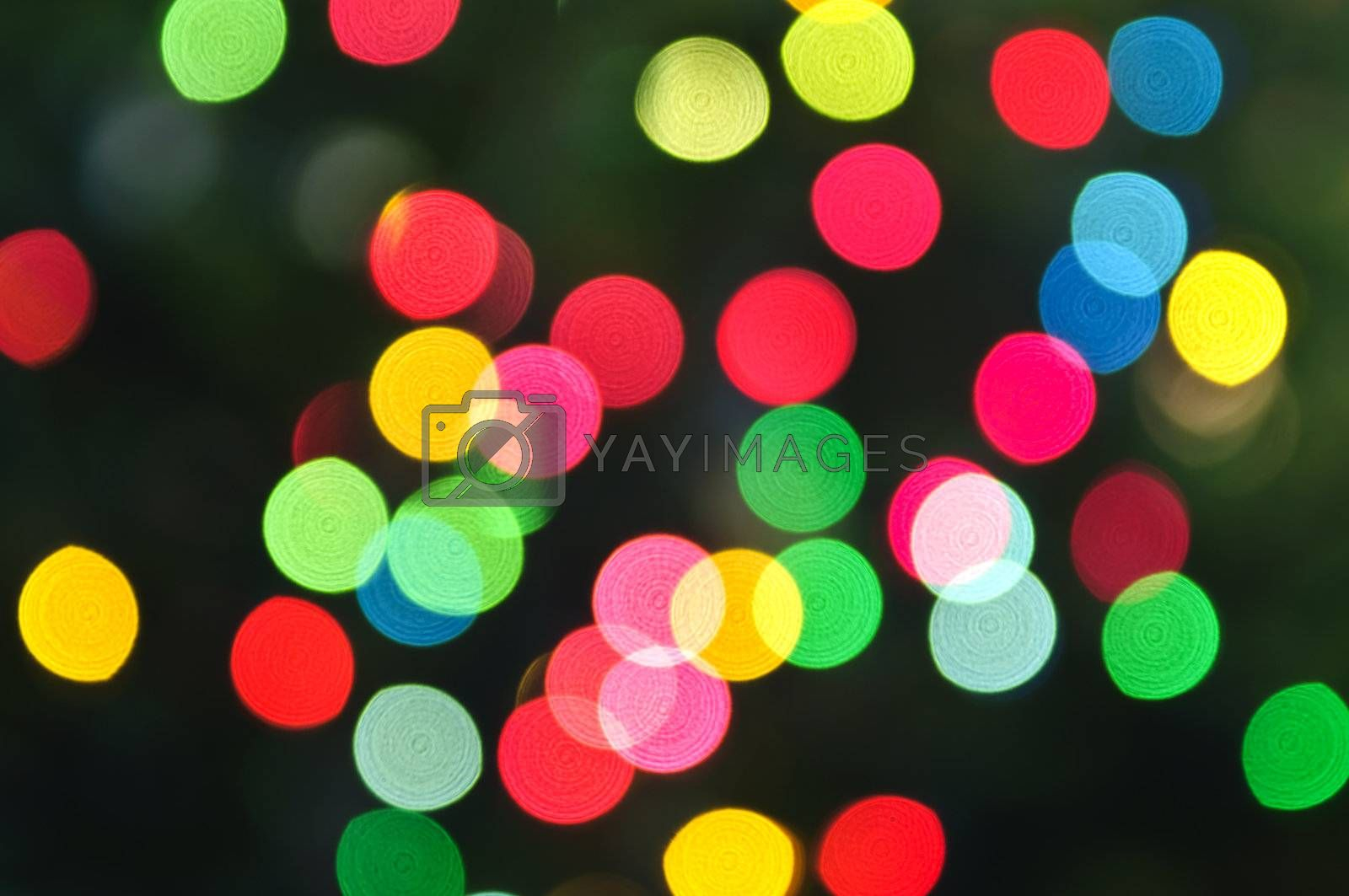 Royalty free image of Blurred Christmas lights by elenathewise