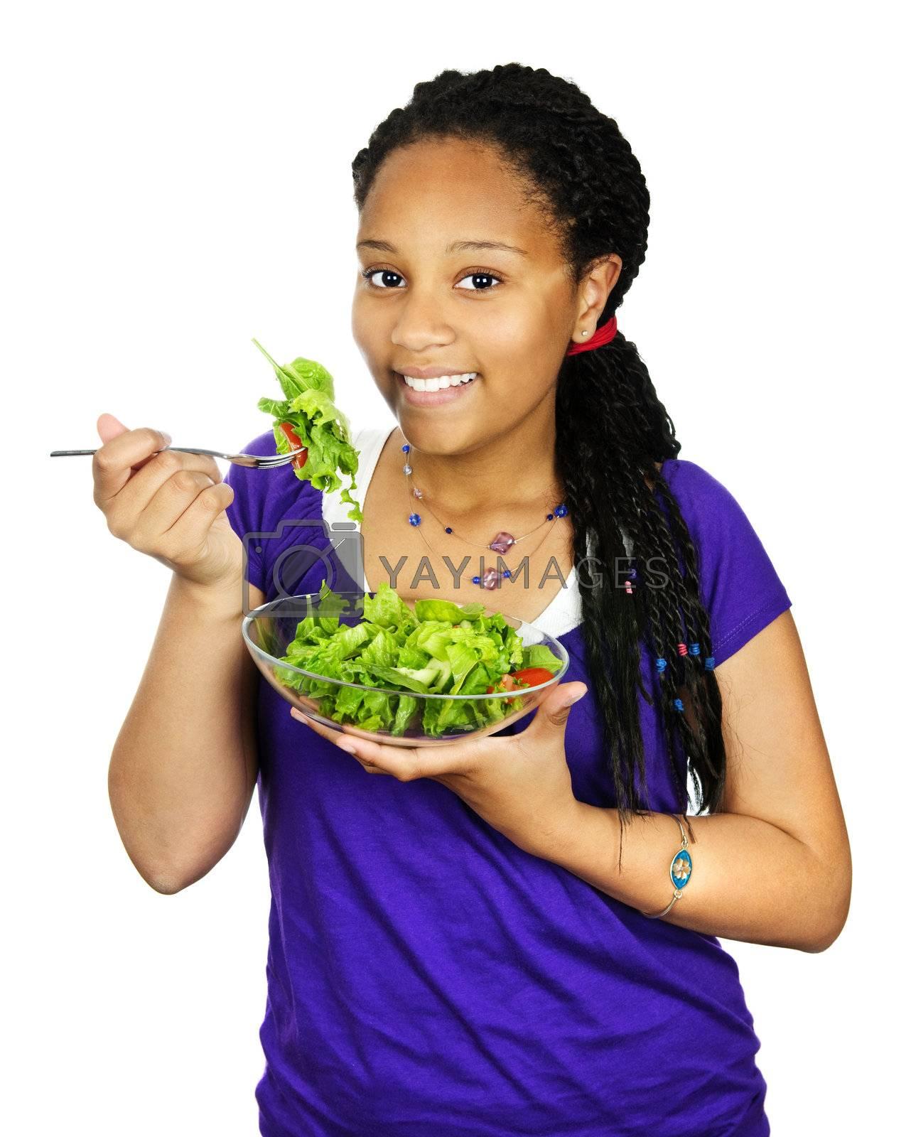 Royalty free image of Girl having salad by elenathewise