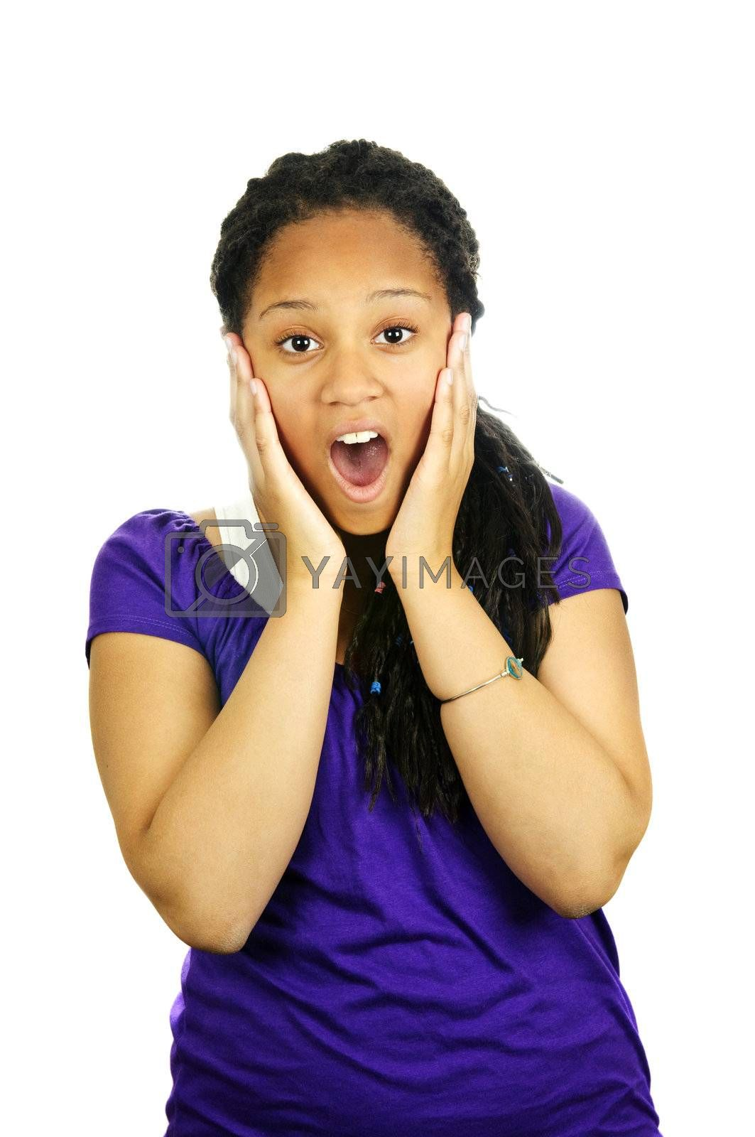 Royalty free image of Teenage girl surprised by elenathewise