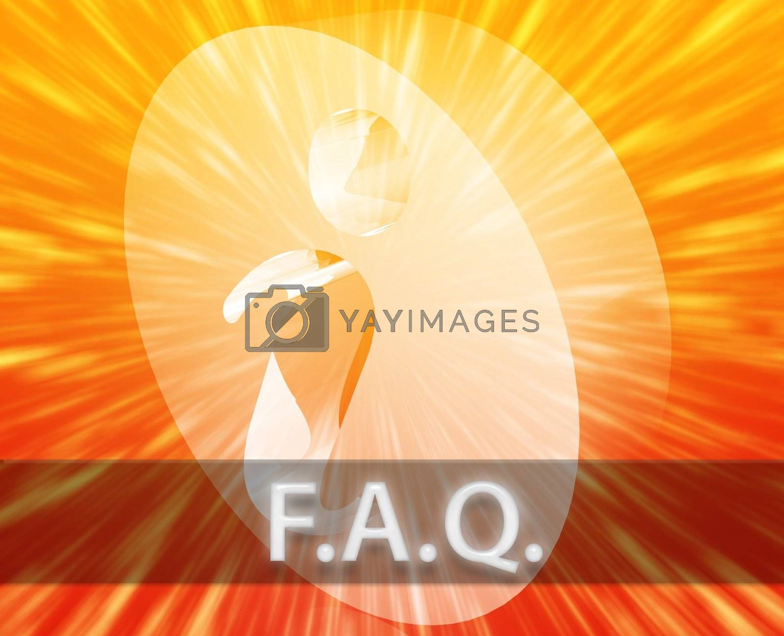 Royalty free image of FAQ Information by kgtoh