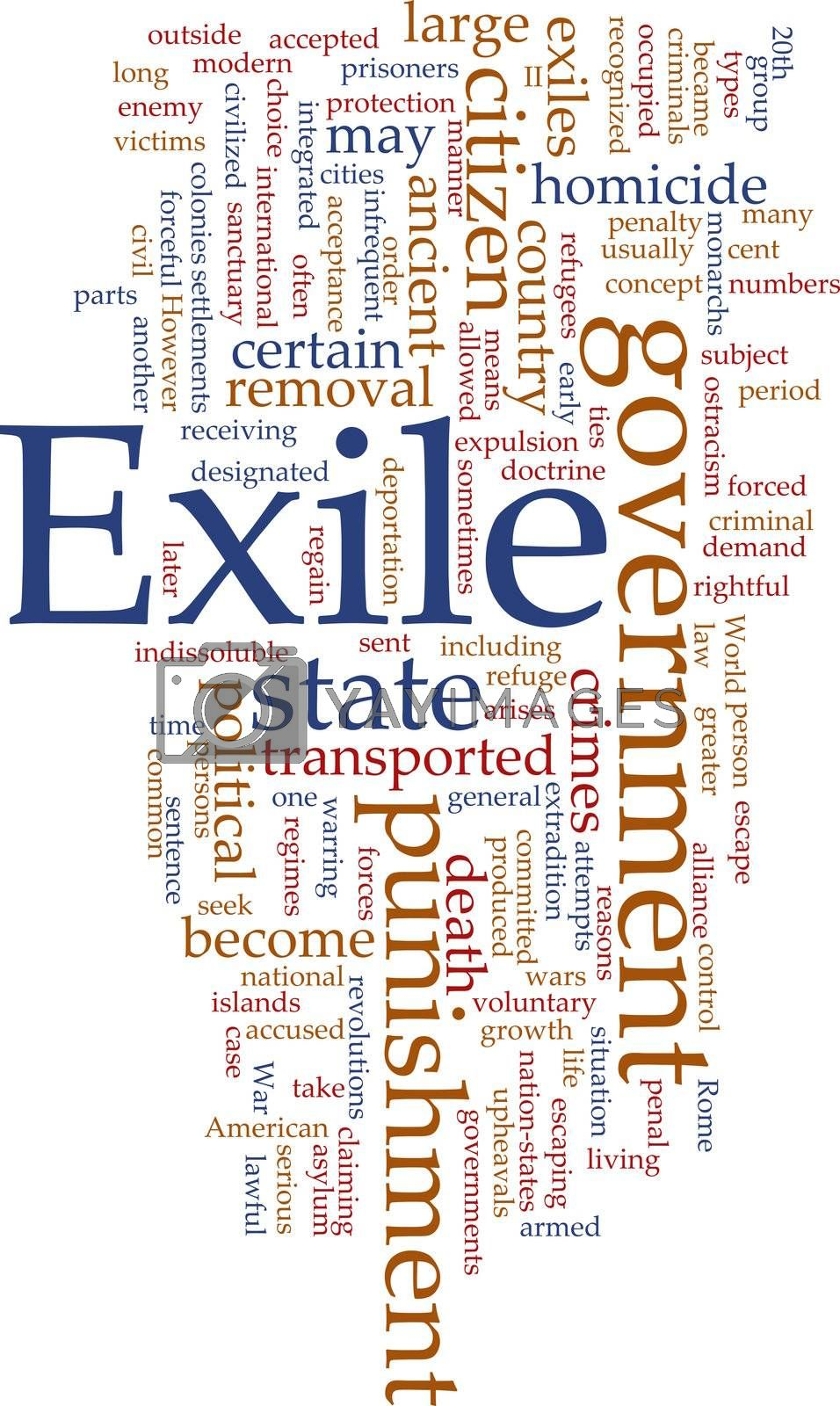 Royalty free image of Exile word cloud by kgtoh