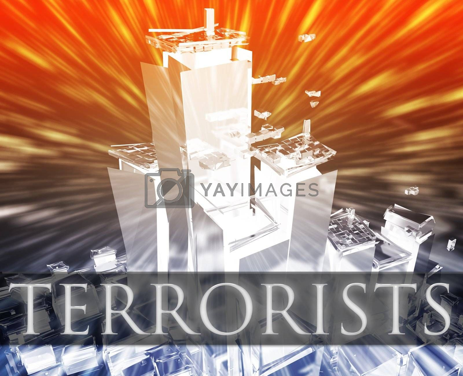 Royalty free image of Terrorists terrorism by kgtoh