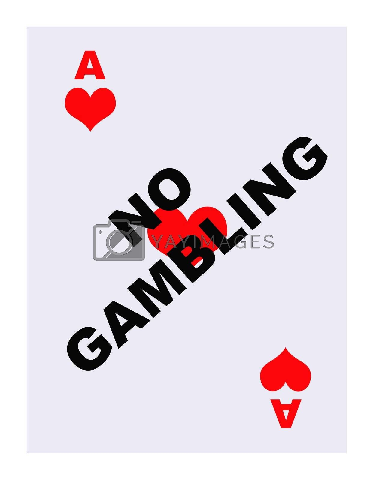 Royalty free image of No Gambling card by speedfighter