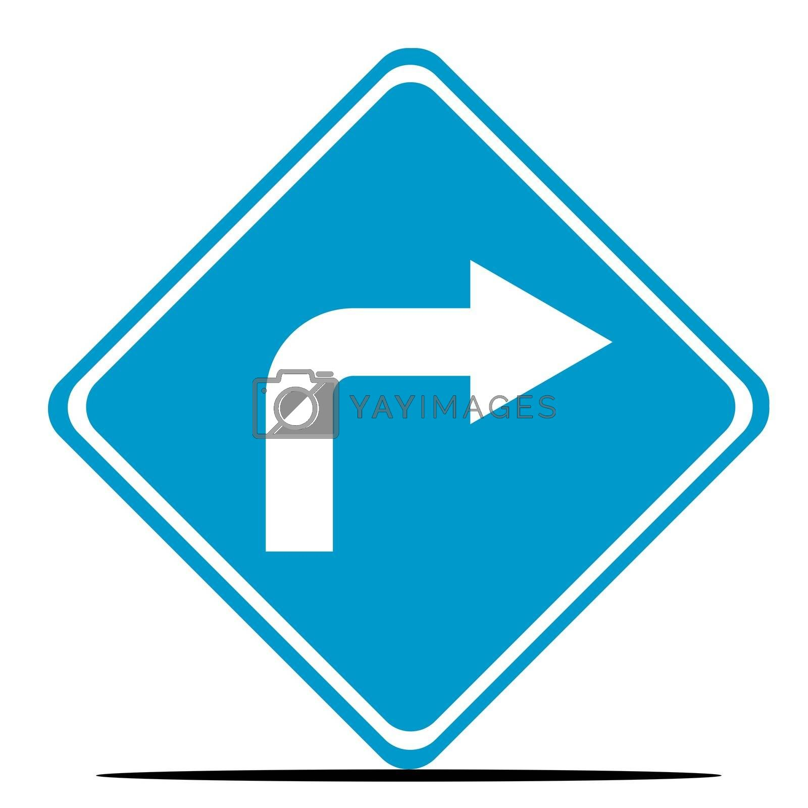 Royalty free image of Directional traffic sign by speedfighter