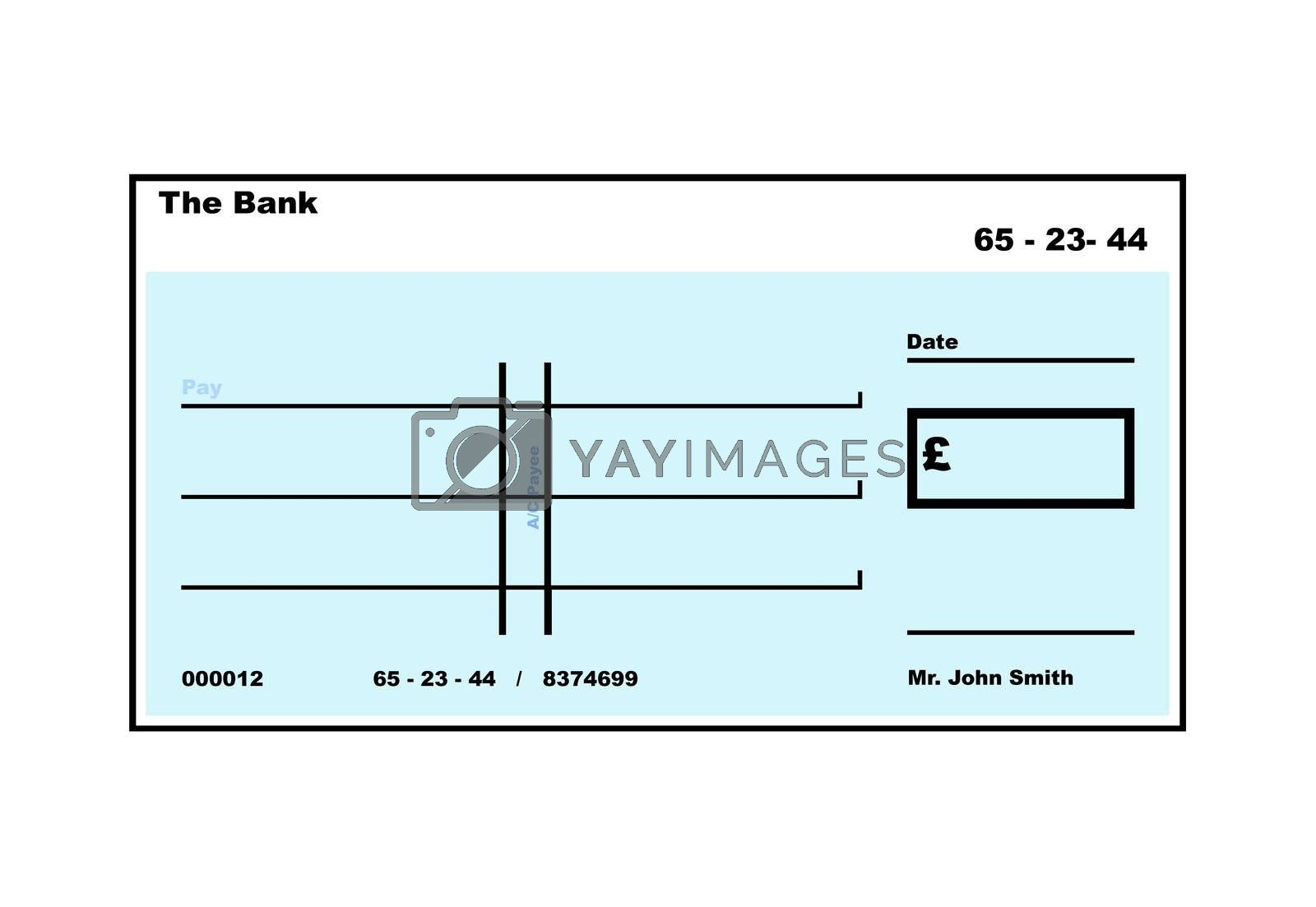 Royalty free image of Blank English Cheque by speedfighter