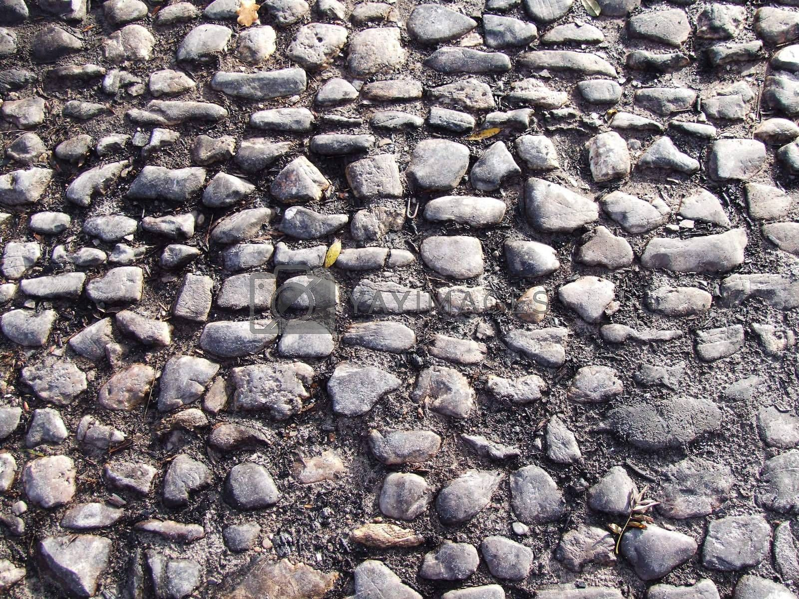 Royalty free image of old pavement by azurin