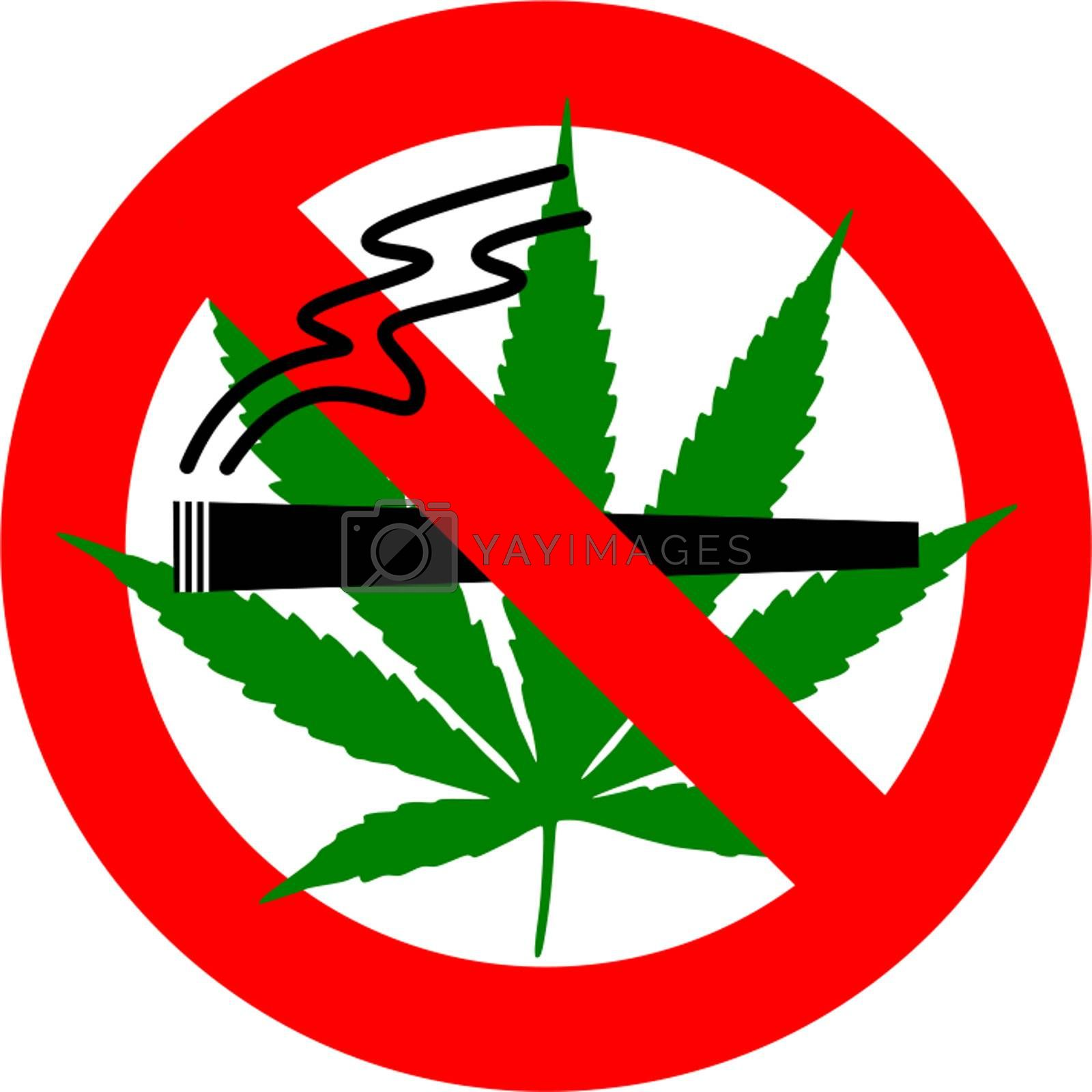 Royalty free image of No Cannabis Smoking by cflux