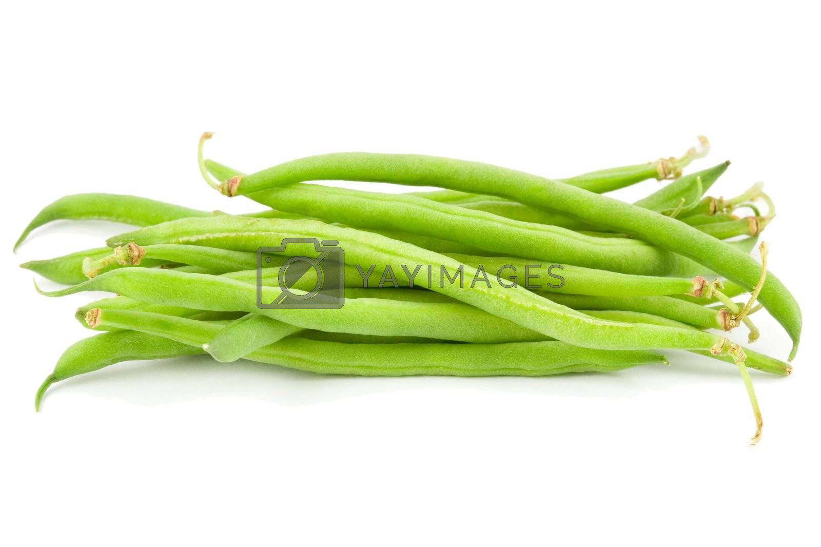 Royalty free image of green beans pile by Tilo