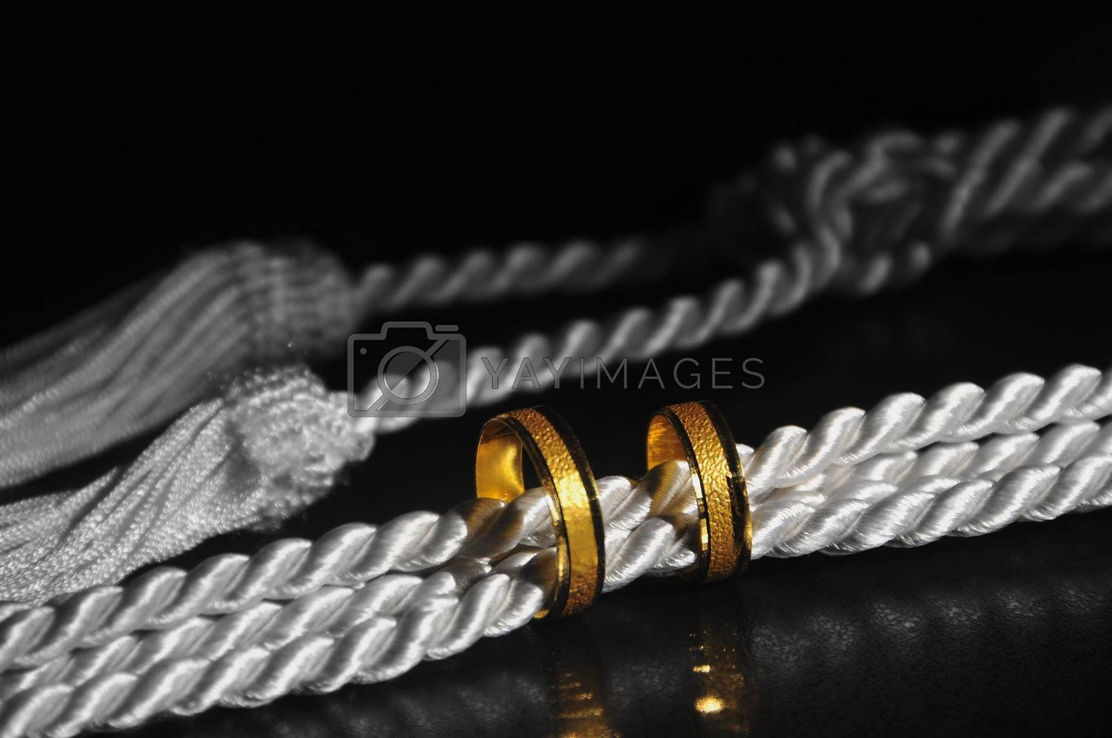 Royalty free image of Wedding Rings by tonyoquias