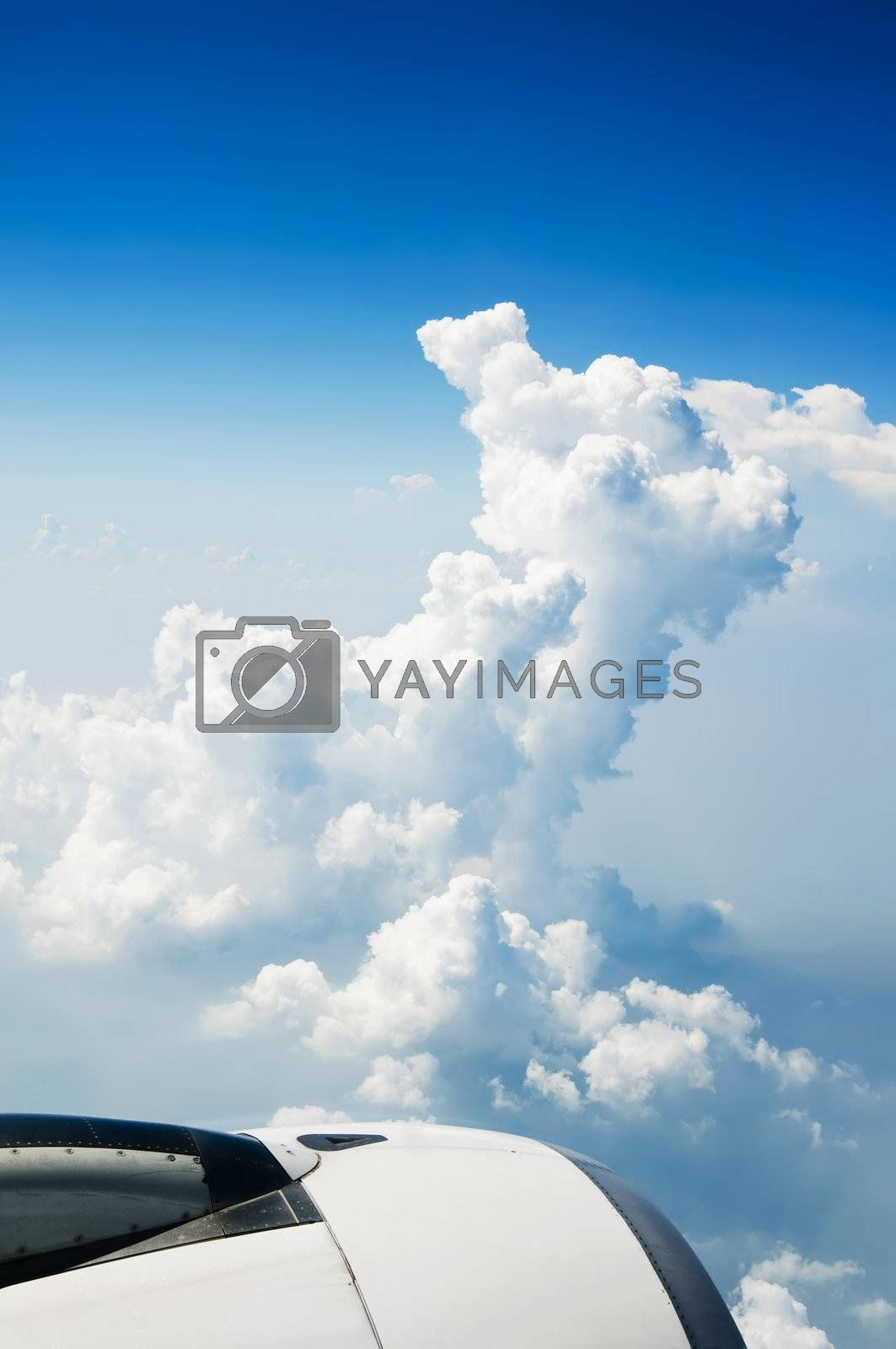 Royalty free image of Airplane by tonyoquias