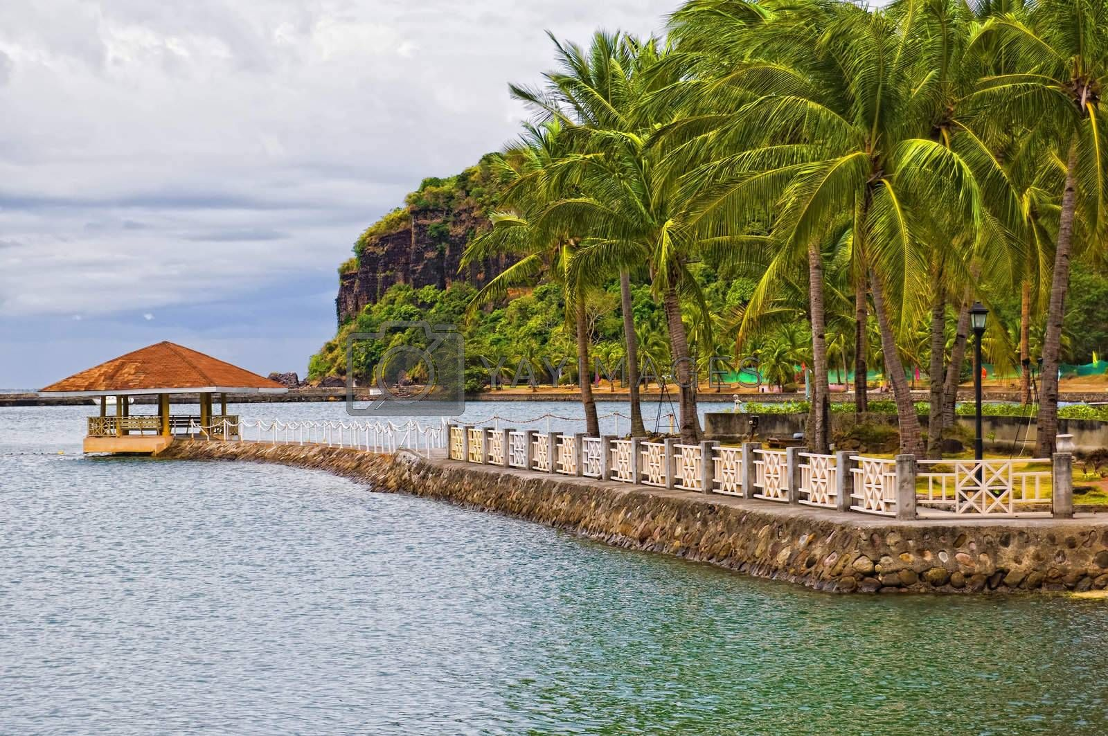 Royalty free image of Caylabne Resort by tonyoquias
