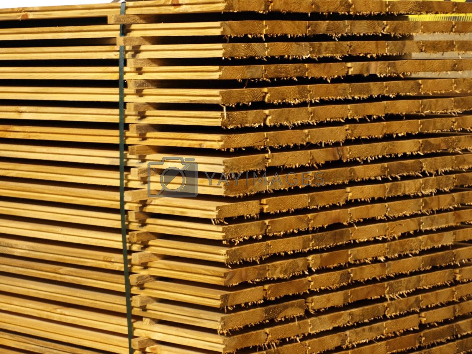 Royalty free image of Pile of Wood by York