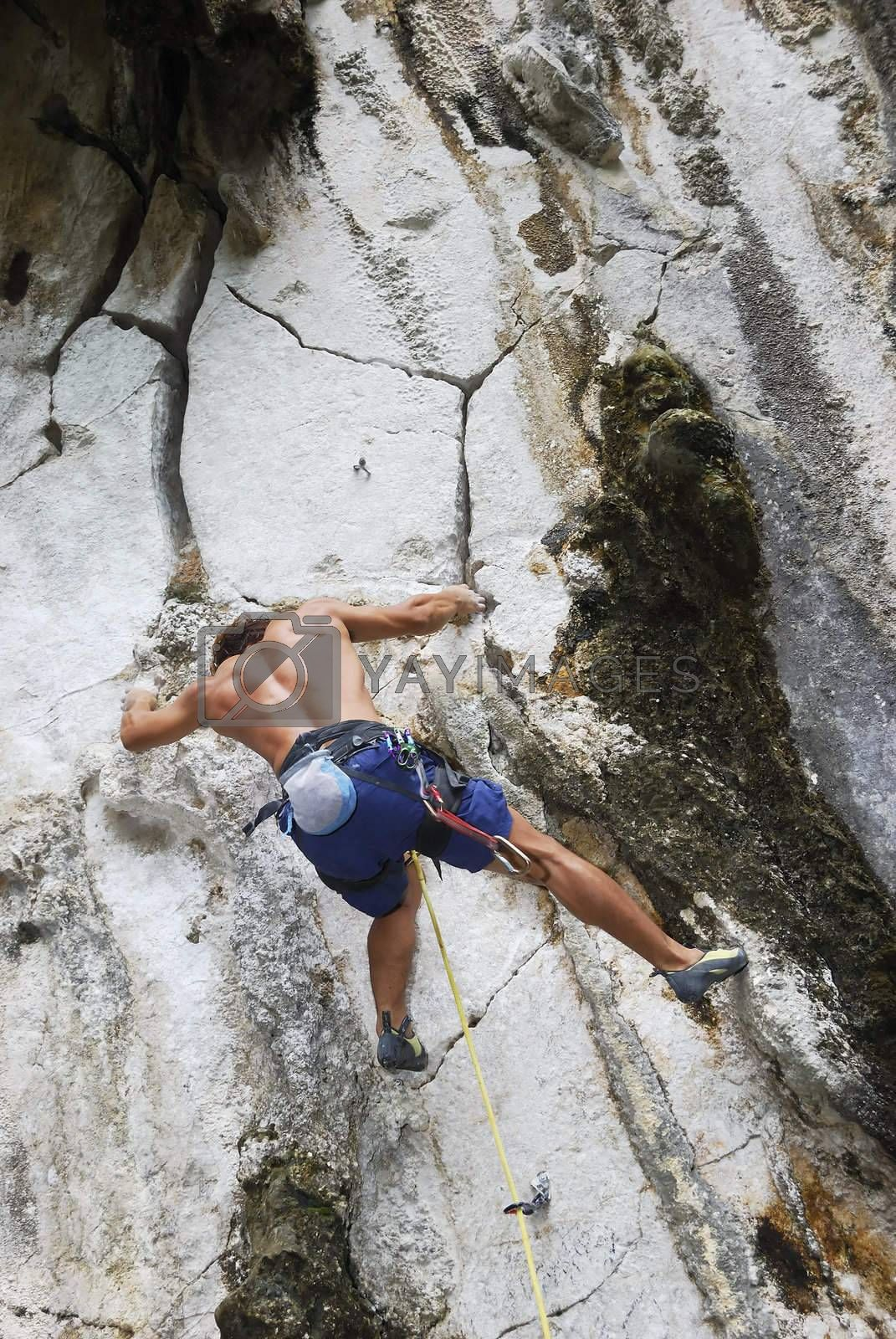 Royalty free image of Bouldering by tonyoquias